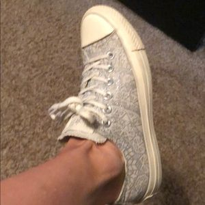 Converse All Star silver sparkle sneakers!